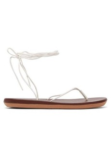Ancient Greek Sandals Bi-colour wraparound leather sandals