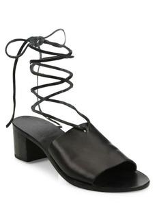Ancient Greek Sandals Christina Vachetta Leather Ankle-Wrap Sandals