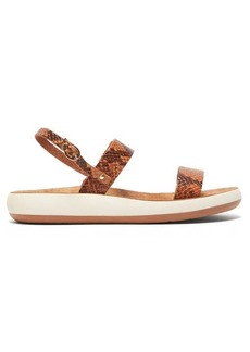 Ancient Greek Sandals Clio Comfort snake-effect leather sandals