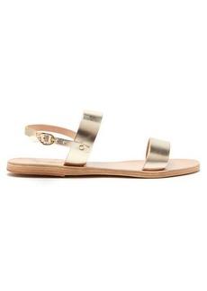 Ancient Greek Sandals Clio metallic-leather sandals