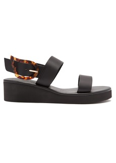 Ancient Greek Sandals Clio Rainbow leather wedge sandals