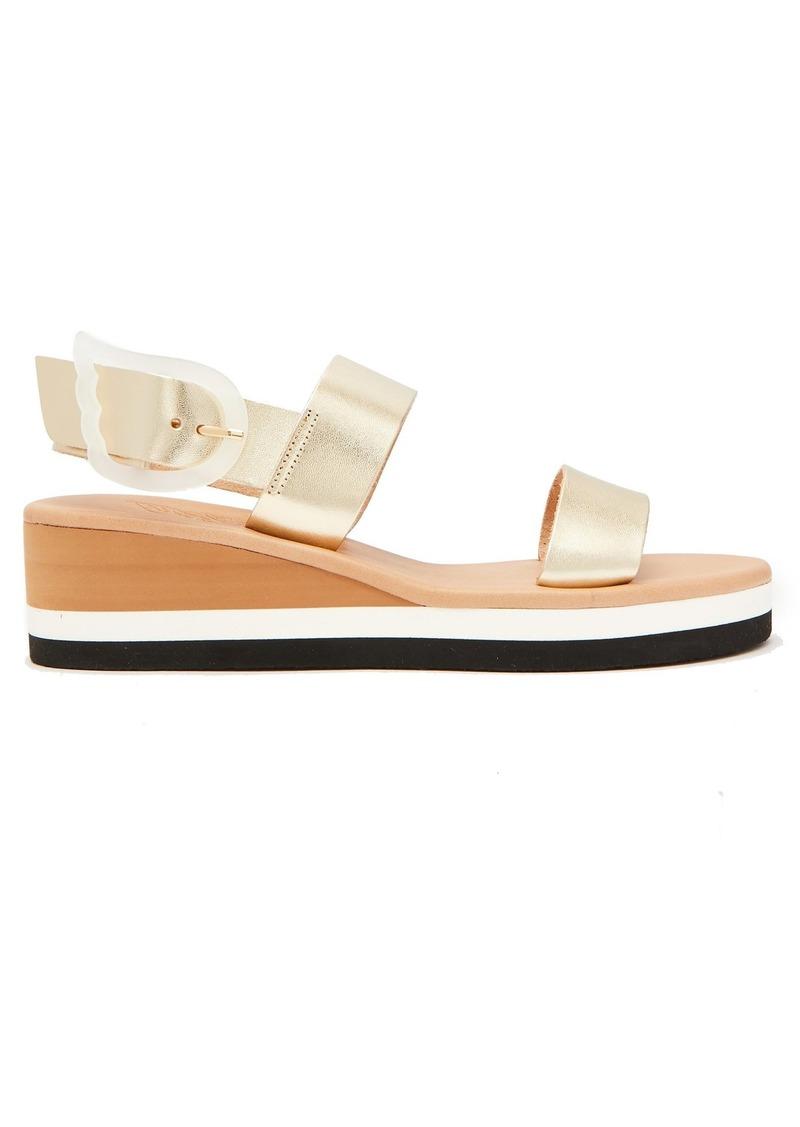 7fa70be8006 Ancient Greek Sandals Ancient Greek Sandals Clio Rainbow wedge-heel ...