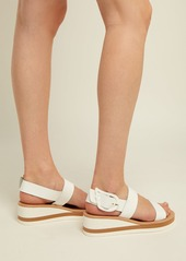 Ancient Greek Sandals Clio Rainbow wedge-heel patent-leather sandals