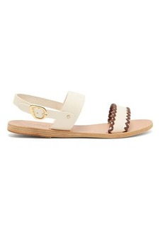 Ancient Greek Sandals Dinami whipstitched slingback leather sandals