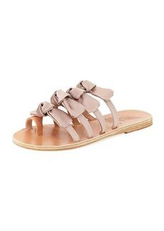 Ancient Greek Sandals Hara Satin Bow Slide Sandal