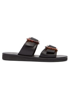Ancient Greek Sandals Iaso tortoiseshell wing-buckle leather sandals
