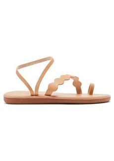 Ancient Greek Sandals Koralia upcycled-leather sandals