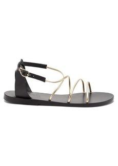 Ancient Greek Sandals Meloivia metallic leather sandals