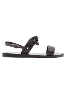 Ancient Greek Sandals Micro sequin-embellished leather sandals
