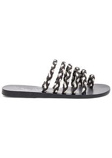 Ancient Greek Sandals Niki Braids Slide in Black. - size 36 (also in 37,38,39,40,41)