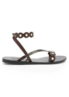 Ancient Greek Sandals Opsi mirror-embellished leather sandals