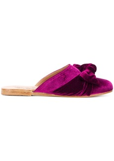 Ancient Greek Sandals Pasoumi bow mules - Pink & Purple