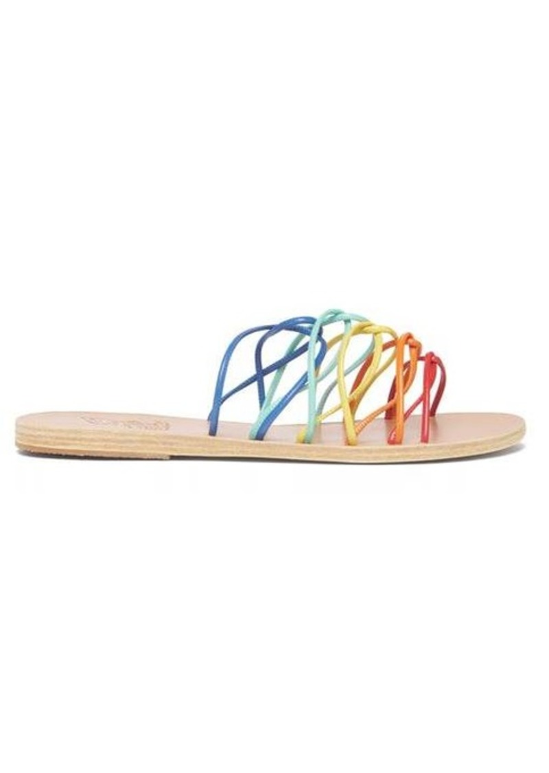 Ancient Greek Sandals Rodopi rainbow-strap leather sandals