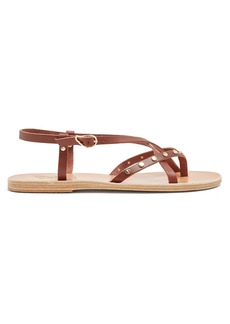 Ancient Greek Sandals Semele embellished slingback leather sandals