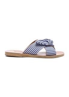 Ancient Greek Sandals Stripe Thais Bow Sandals