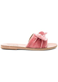 Ancient Greek Sandals Taygete Bow Slide in Pink. - size 37 (also in 38,39)