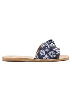 Ancient Greek Sandals Taygete Bow twill sandals