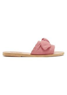 Ancient Greek Sandals Taygete gingham cotton sandals