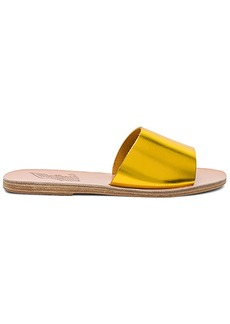 Ancient Greek Sandals Taygete Slide in Metallic Gold. - size 36 (also in 37,38,39,40,41)