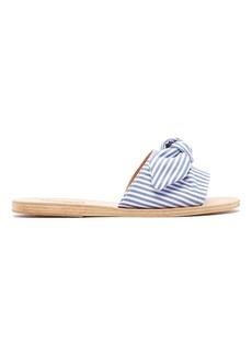 Ancient Greek Sandals Taygete striped leather slides