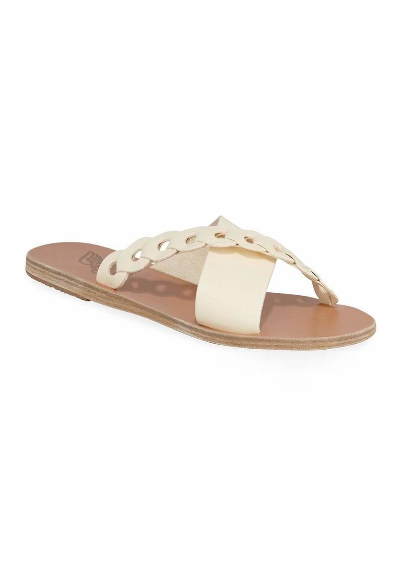 Ancient Greek Sandals Thais Linked Leather Flat Sandals