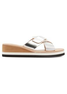 Ancient Greek Sandals Thais Rainbow leather wedge sandals