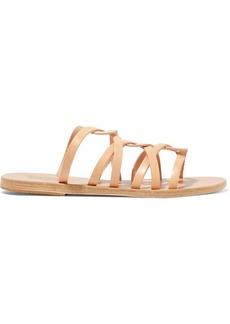 Ancient Greek Sandals Woman Donousa Leather Slides Sand