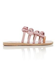 Ancient Greek Sandals Women's Hara Bow-Embellished Cotton Slide Sandals