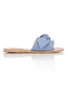 Ancient Greek Sandals Women's Taygete Bow-Embellished Cotton Slide Sandals