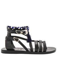 Ancient Greek Sandals x lemlem Satira Wrap Sandal in Black. - size 36 (also in 37,38,39,40,41)