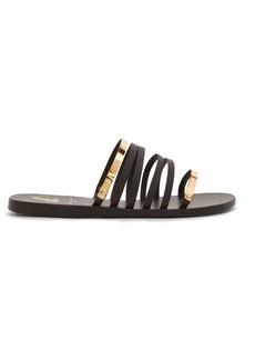 Ancient Greek Sandals X Yiannis Sergakis metal-snake leather slides