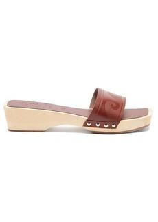 Ancient Greek Sandals X Zeus + Dione Wave leather slides
