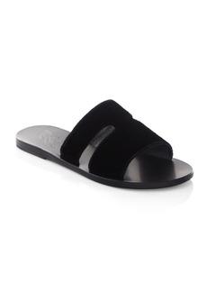 Ancient Greek Sandals Apteros Velvet Slides