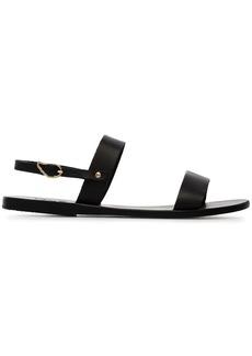 Ancient Greek Sandals black clio leather sandals