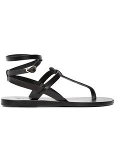 Ancient Greek Sandals Black Estia Leather Sandals