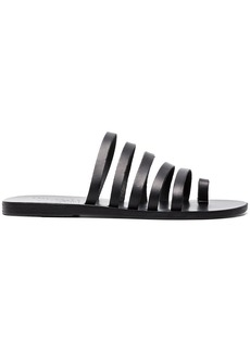 Ancient Greek Sandals Black Niki Leather Sandals