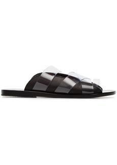 Ancient Greek Sandals black thraki PVC and leather sandals