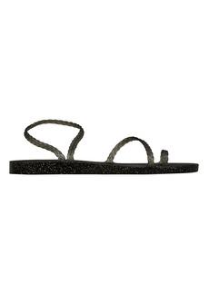 Ancient Greek Sandals Eleftheria Black Sandals