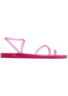 Ancient Greek Sandals Eleftheria Braided Glittered Rubber Sandals
