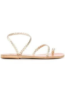 Ancient Greek Sandals Eleftheria metallic sandals