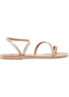 Ancient Greek Sandals Eleftheria Sequined Leather Sandals