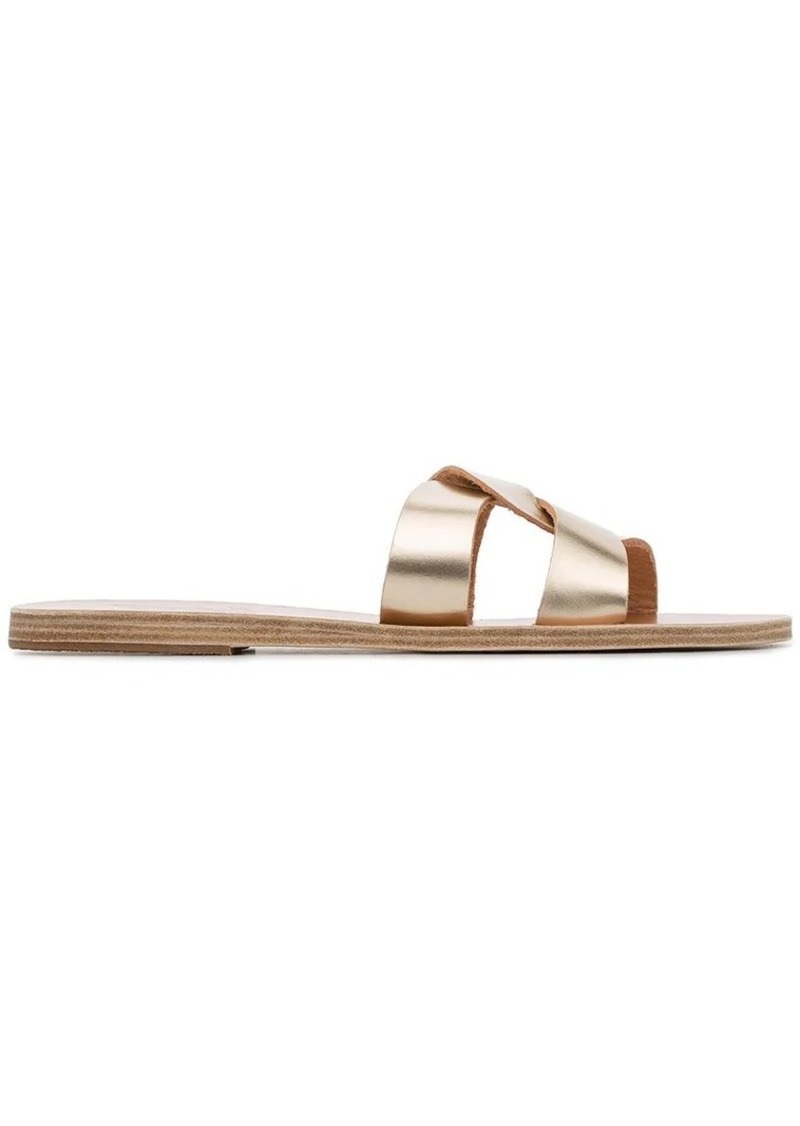 4196328fd Ancient Greek Sandals Gold Desmos crossover leather sandals