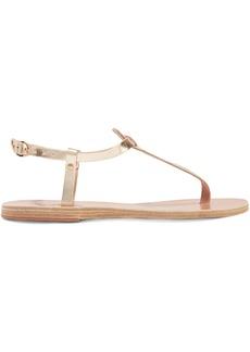 Ancient Greek Sandals Lito Metallic Leather Sandals