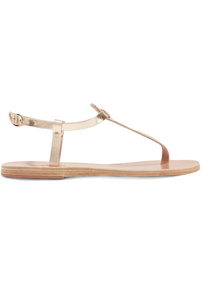 Ancient Greek Sandals Lito Metallic Leather Sandals