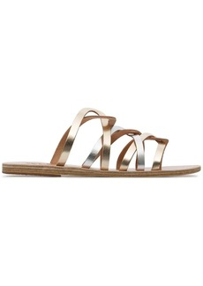 Ancient Greek Sandals metallic gold and silver donousa leather sandals