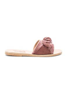 Ancient Greek Sandals Taygete Bow Velvet Sandal