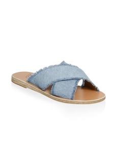 Ancient Greek Sandals Thais Metallic Leather Crossover Sandals