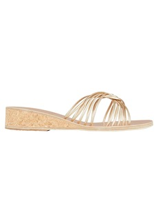 Ancient Greek Sandals Xanthi Metallic Wedge Sandals