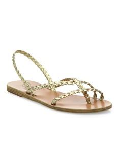 Ancient Greek Sandals Yianna Braided Vachetta Leather Flat Sandals