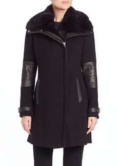Andrew Marc Ametista Rabbit Fur Coat